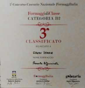 Premio concorso formaggi Golosaria 2018 - Provola affumicata